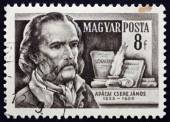 Postage stamp Hungary 1954 Janos Apaczai Csere, Polyglot — Stock Photo
