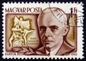 Postage stamp Hungary 1953 Bela Bartok, Hungarian Composer — Stock Photo