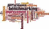 Benchmarking word cloud — Stock Vector