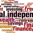 Financial independence word cloud — Stock Vector #76229661