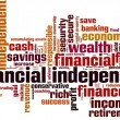 Financial independence word cloud — Stock Vector #76229439