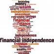 Financial independence word cloud — Stock Vector #76229769