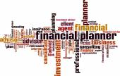 Financial planner word cloud — Stock Vector