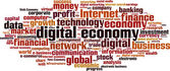 Digital economy word cloud — Stock Vector