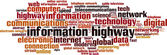 Information highway word cloud — Vetor de Stock