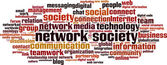 Network society word cloud — Stock Vector