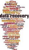 Data recovery word cloud — Stock Vector