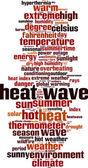 Heat wave word cloud — Stock Vector
