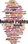 Human rights word cloud — Stock Vector