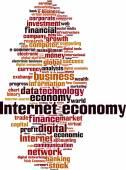 Internet economy word cloud — Stock Vector