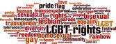LGBT rights word cloud — Stock Vector