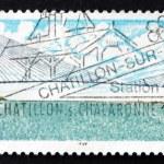 Postage stamp France 1995 Normandy Bridge — Stock Photo #77679102