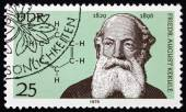 Postage stamp Germany 1979 Friedrich August Kekule, Chemist — Stock Photo