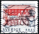 Postage stamp Sweden 2002 Waterfront Building — Stock Photo