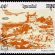 Постер, плакат: Postage stamp Cambodia 1991 First European Settlement
