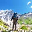 Hiking in mountains — Stock Photo #52004013