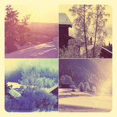 Winter collage — Stock Photo