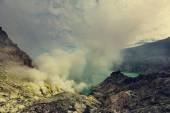 Lake in    Volcano Ijen — Stock Photo