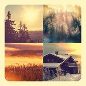 Kış kolaj — Stok fotoğraf