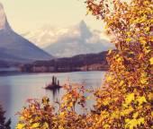 Autumn in Glacier National Park — Stockfoto