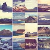 Iceland collage — Stock Photo