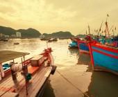 Barcos no vietnã — Fotografia Stock