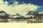 Glacier Park in winter — Stock Photo