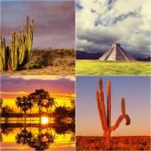 Мексиканский коллаж — Стоковое фото