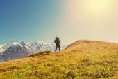 Hike in mountains — Stock Photo