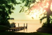 Lake on sunrise — Stock Photo