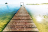 Promenade op strand — Stockfoto