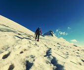 Climbing man — Stock Photo
