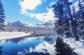 Glacier Park in winter — Stock fotografie