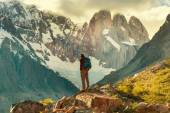 Man Hiker in Patagonia — Stock Photo