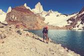 Man Hiker in Patagonia — Stock Photo