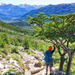 Man Hiker in Patagonia — Stock Photo #67052621