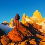 Man Hiker in Patagonia — Stock Photo #67053521