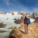 Man Hiker in Patagonia — Stock Photo #67235543