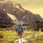 Man Hiker in Patagonia — Stock Photo #67797777