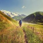 Man Hiking in mountains — Stock Photo #68581247