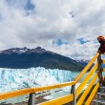 Man at Glacier in Argentina — Stock Photo #68581271