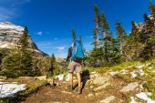 Hike at Glacier National Park — Stock Photo