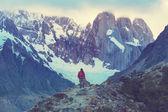 Man  Hiker in Patagonia — Φωτογραφία Αρχείου