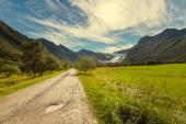 Straße in norwegen bergen — Stockfoto