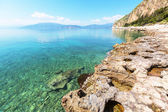 Rocky coastline in Greece — Stock Photo