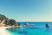 Beautiful rocky coastline in Greece — Stock Photo