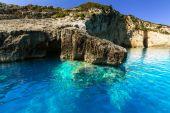 Beautiful rocky coastline in Greece — Foto de Stock