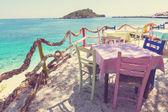 Restaurant on Greece coast — Stock Photo