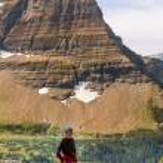 Man Hiking in Glacier — Stock Photo #73213753