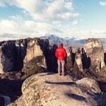 Tourist in Meteora, Greece — Stock Photo #73214141